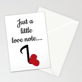 just a little note Stationery Cards