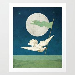 Moon Messenger Art Print