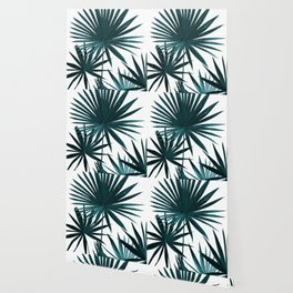 Fan Palm Leaves Jungle #1 #tropical #decor #art #society6 Wallpaper