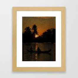 Cochin Golden Sunset - 194 Framed Art Print
