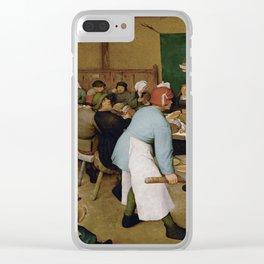 Peasant Wedding by Pieter Bruegel the Elder Clear iPhone Case