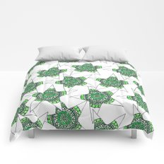 Green Superstar Mandala Star Comforters
