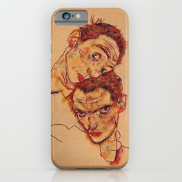 Egon Schiele - Double Self Portrait  iPhone Case