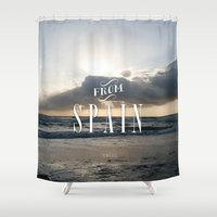 spain Shower Curtains featuring From Spain by Nena Loca