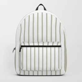 Silver Moss Pinstripe on White Backpack