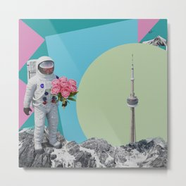 The astronaut and the tower Metal Print