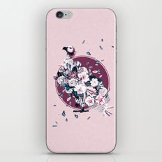 Vulture and Floral iPhone Skin