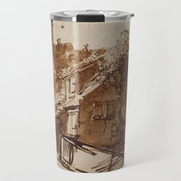 Dutch Farmhouse in Sunlight Travel Mug
