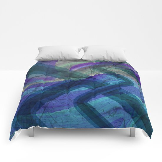 Industrial Landscape Abstract  Comforters