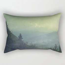 Mist over valley - view of Valmalenco / Italy Rectangular Pillow