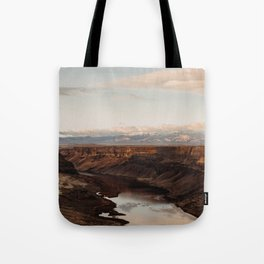 Snake River, Idaho - Scenic Desert Canyon Tote Bag