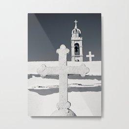 Three Orthodox crosses Metal Print