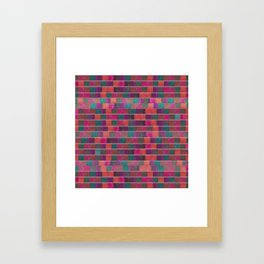 """Full Color Squares Pattern"" Framed Art Print"