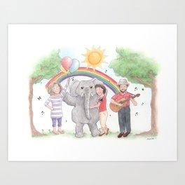 Sharon, Lois & Bram - The Elephant Show Art Print