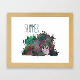 Summer Kokedama Sprite Framed Art Print