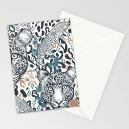 Animal vector print with leopard spots ornament pattern Stationery Cards