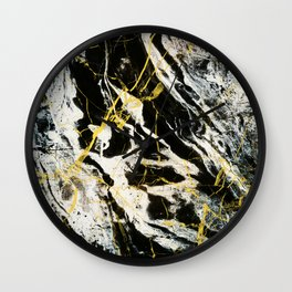 Gold And Marble Pattern Wall Clock