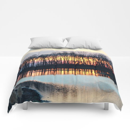 Sunset Reflections Comforters