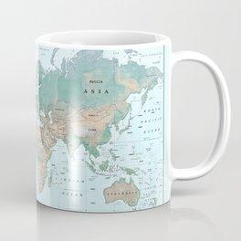 The World [Atlas] Shaded Relief Map Coffee Mug