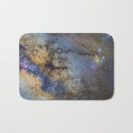 The Milky Way and constellations Scorpius, Sagittarius and the super big red star Antares. Bath Mat