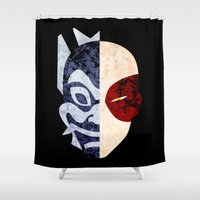 airbender Shower Curtains featuring Blue Spirit by sambeawesome