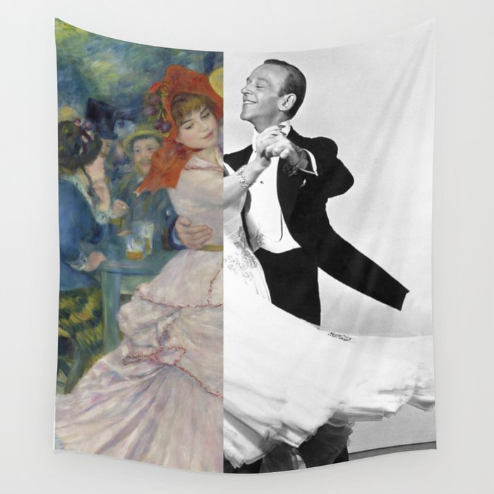 Renoir S Dance At Bougival Fred Astaire With Ginger Rogers Wall Tapestry By Luigitarinigraphicartist Society6
