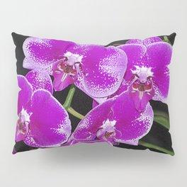 Graceful spray of deep pink orchids Pillow Sham