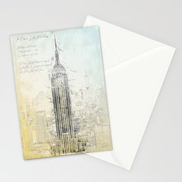 Empire State Building, New York USA Stationery Cards