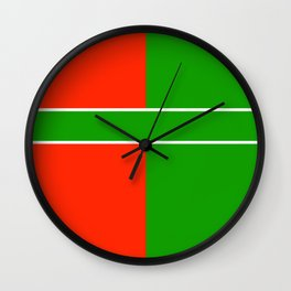 Team Color 6...green,red Wall Clock