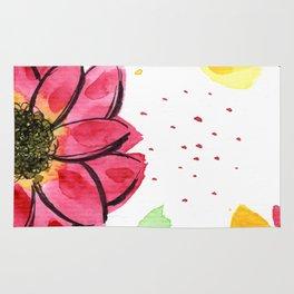 Flower Illustration 3 Rug