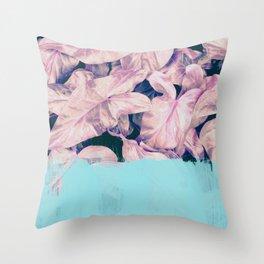 Teal Sorbet on Jungle Throw Pillow