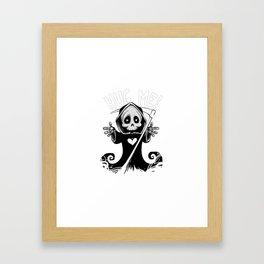 Cute Grim Reaper - Baby Death Wants a Hug! Framed Art Print