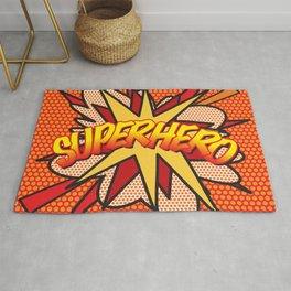 Comic Book Pop Art SUPERHERO Modern Cool Fun Rug