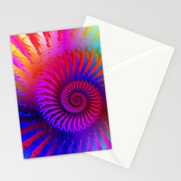 Rainbow Psychedelic Hippie Fractal Art Stationery Cards