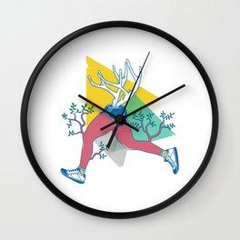 Run like a deer Wall Clock