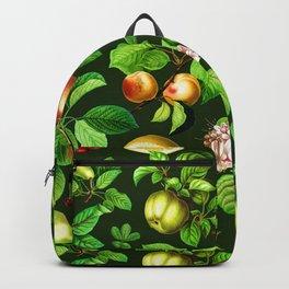 Vintage Fruit Pattern Backpack