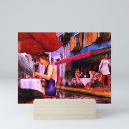 CAFE CULTURE Holiday Eat Street Slice-of-Life Mini Art Print