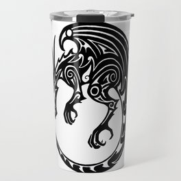Tribal dragon - button design Travel Mug