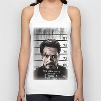 tony stark Tank Tops featuring Tony Stark jailed by MkY111