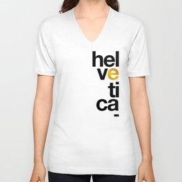 Helvetica Typoster #1 Unisex V-Neck