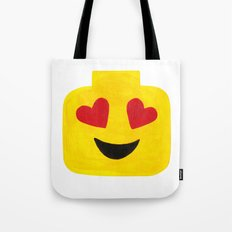 Heart Eyes - Emoji Minifigure Painting Tote Bag