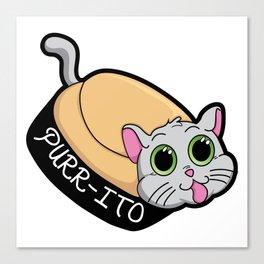 Purr-ito Kitty Burrito Canvas Print