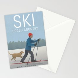 Ski Cross Country Stationery Cards
