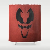 venom Shower Curtains featuring Venom by Beastie Toyz