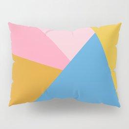 Cute Colorful Diagonal Color Blocking Pillow Sham