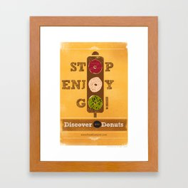 STOP, ENJOY, GO! Framed Art Print
