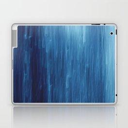 abstract blue rain Laptop & iPad Skin