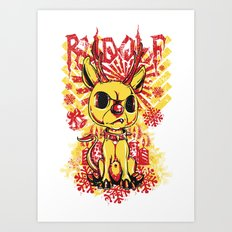 Bad Rudolf Art Print