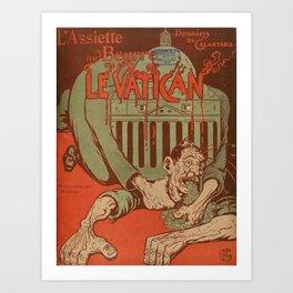Vintage poster - Vatican Galantara Art Print
