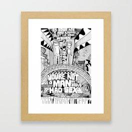 Not A Man Framed Art Print
